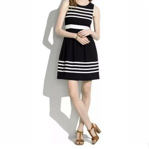 Madewell Afternoon Fit Flare Striped Dress
